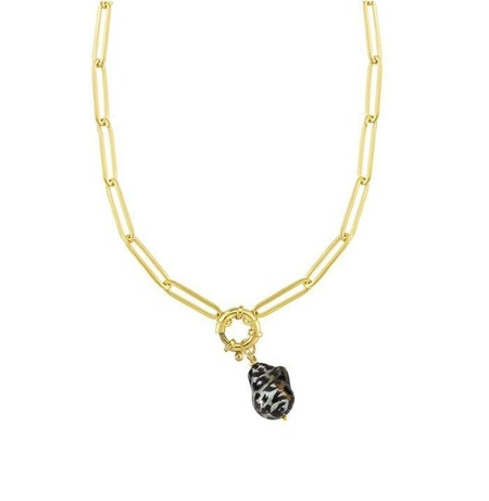 Maisonirem Chain With Baroque Pearl - Gold