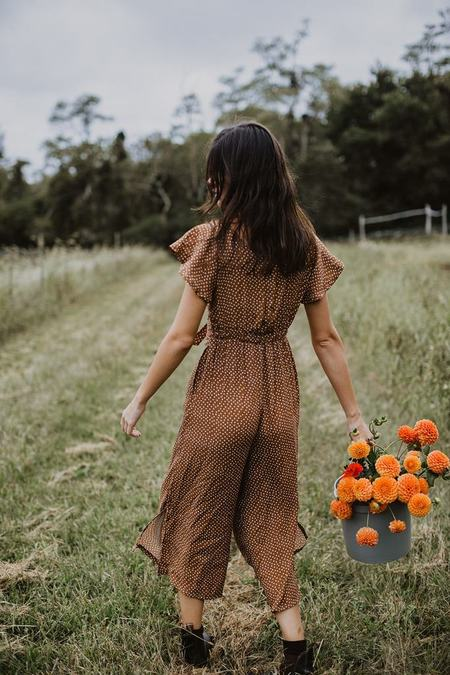 Conrado Johanna Junpsuit - Brown Dots