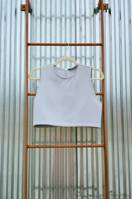 KAAREM Siamese Sleeveless Folded Back Top - Taro
