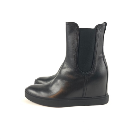 AGL Leather Wedge Bootie
