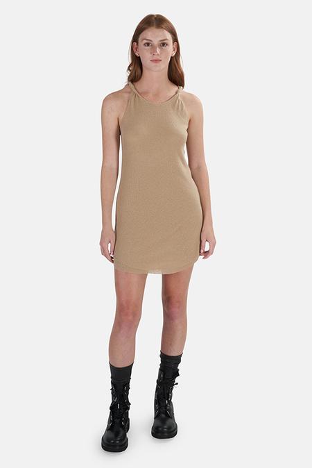 The Range Knit Knot Strap Tank Dress - Beach