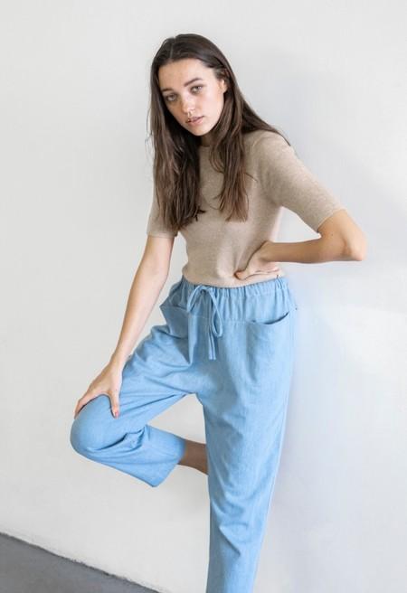 Lauren Manoogian Rib Tee - Beige Melange
