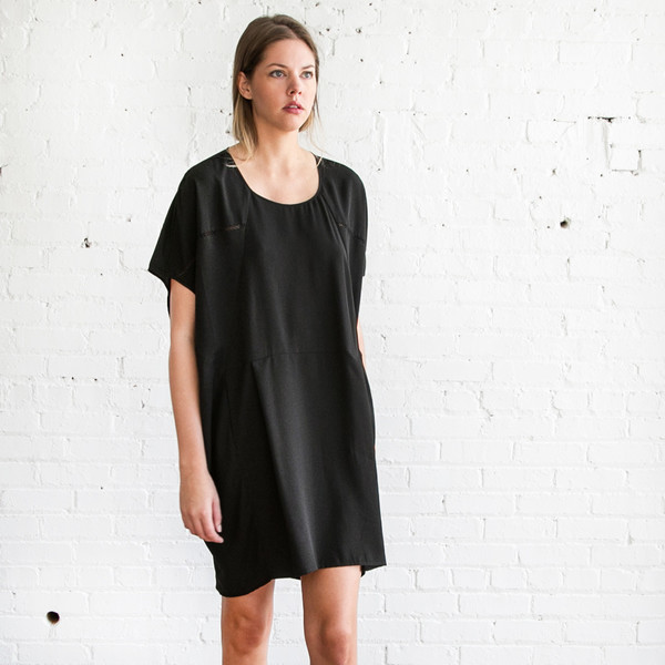 Gary Graham Cocoon Dress Black