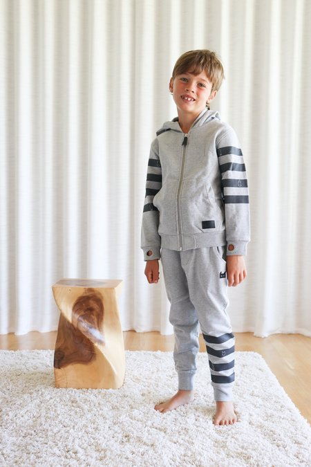 Munster Kids Pocket Grin Trackpant - Grey Marle