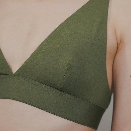 Baserange Triangle Bra - Apache Green
