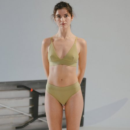 Baserange Triangle Bra - Topa Green