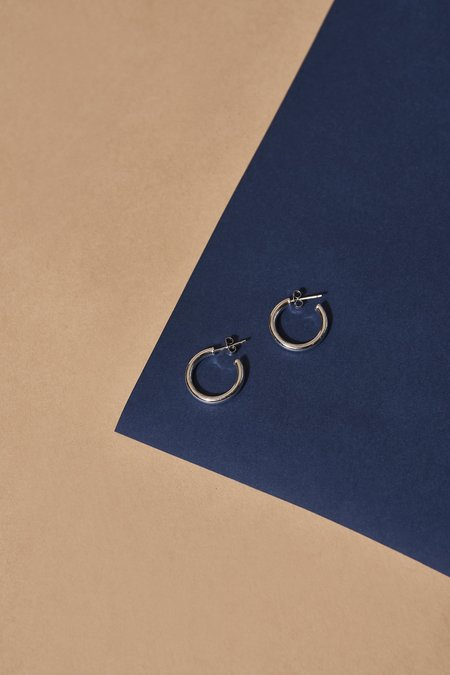 Whimsey + Row Machete Mini Hoops - Sterling Silver