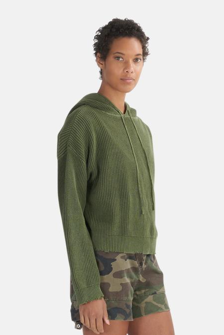 RtA Marvin Hoodie Sweater - Army Acid Wash