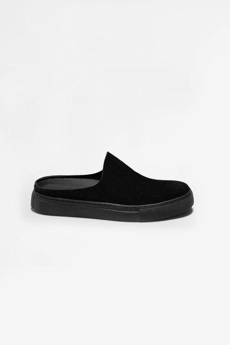 Paracia Vera suede slipper - black