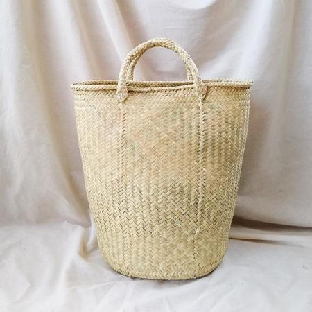 Hecho and Co Haul Natural Palm Tote