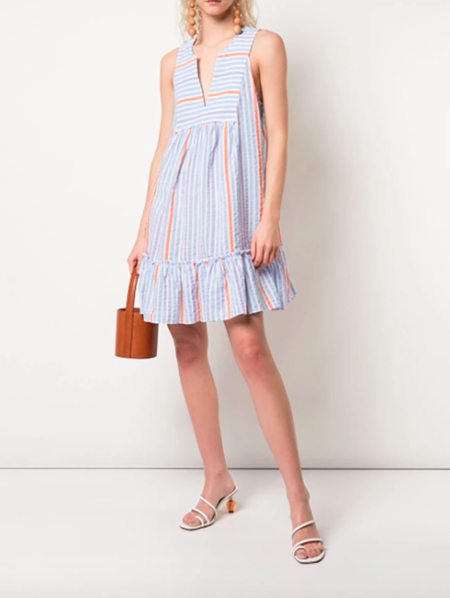 Lemlem Bahiri Bib Dress - Light Sky Blue