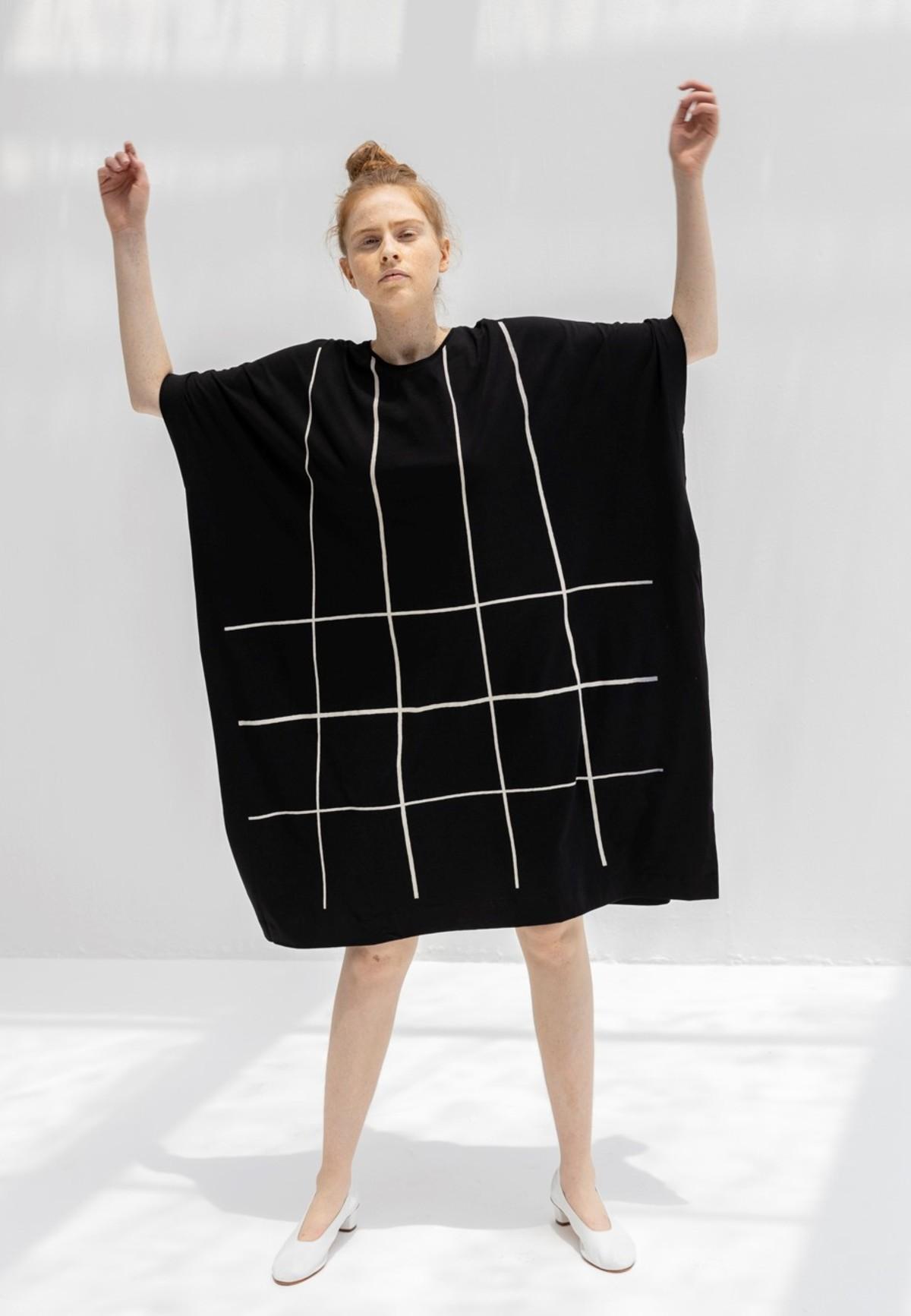 Kowtow Geometry Dress Black Garmentory
