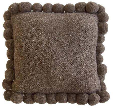 Pampa Monte Pom Pom #2 Cushion - Walnut