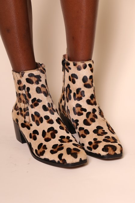 """INTENTIONALLY __________."" Banks Boots - Leopard"