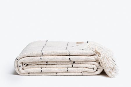 Morrow Soft Goods Claude Throw - Natural/Black