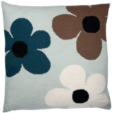 Kids luckyboysunday flower pillow case - mint