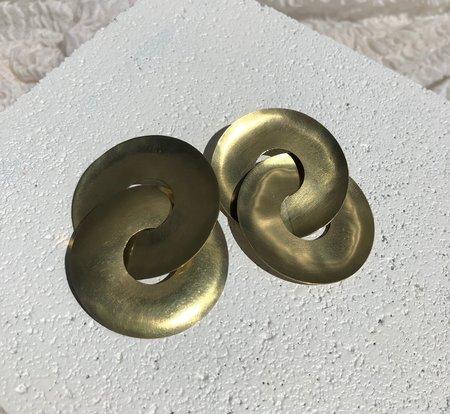 Fay Andrada Pari Earrings - Brass