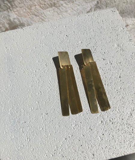 Fay Andrada Suti Long Earrings - Brass