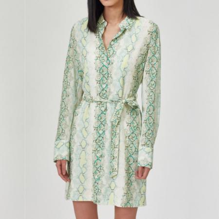 Equipment Short Rosalee Dress - Covert Green Multi