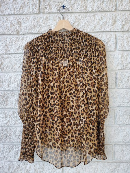 Veronica Beard Jaz Blouse - Leopard