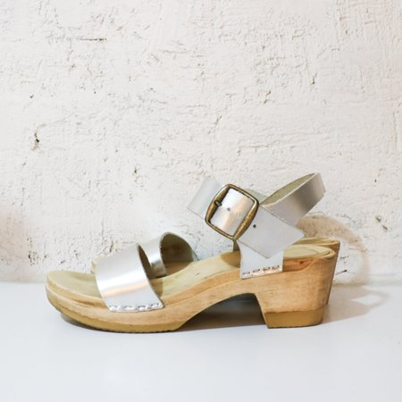 [Pre-loved] No.6 Metallic Clogs - Silver