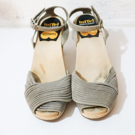 [Pre-loved] Swedish Designer Hasbeens Clogs - Taupe