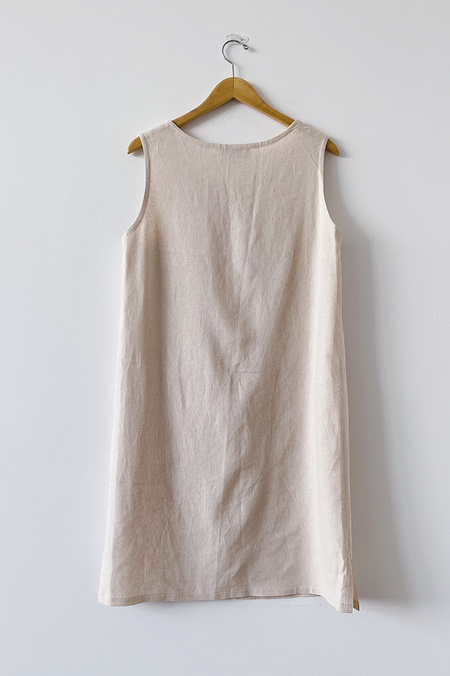 A. Cheng Lizzie Shift Dress - Natural