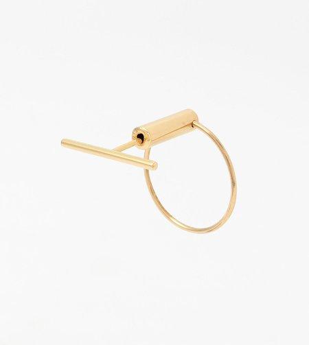 Hirotaka Tribal Toggle Earring - 18k Gold