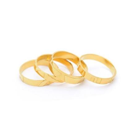 Wouters & Hendrix Textured Ring Set - Gold