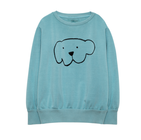 Weekend House Kids Herbert Sweat Shirt - Soft Turquoise