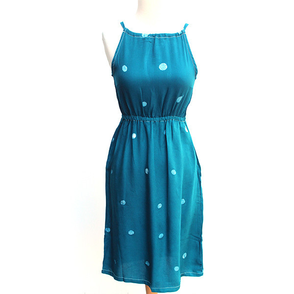 Della Teal Racerback Dress