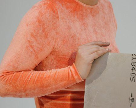 Baserange Omo Long Sleeve Tee - Pala Orange