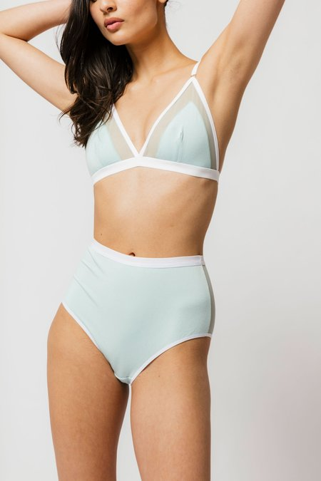 Mary Young CONTRAST BRA - MINT