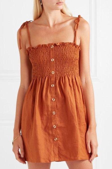 Faithfull The Brand Rosa Dress - Terracotta