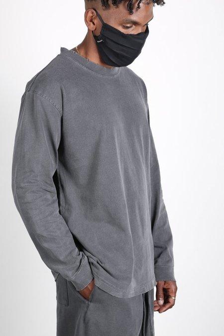 Machus Distressed Lightweight Longsleeve Tee - Washed Black