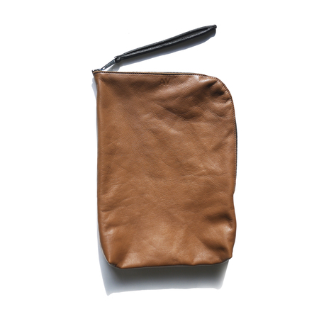 AW By Andrea Wong RENDEZ - VOUS WRIST CLUTCH | CARAMEL