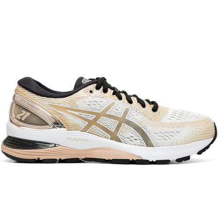ASICS Gel-Nimbus 21 Platinum Sneaker - WHITE FOREST