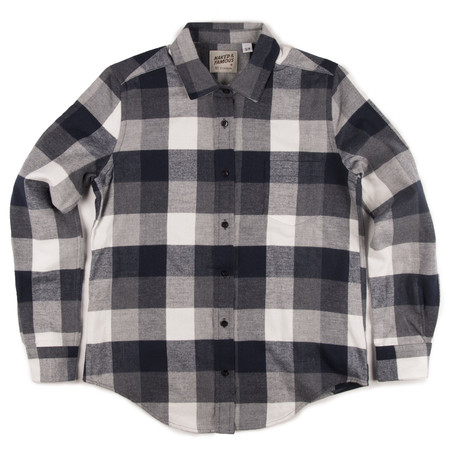 Naked & Famous BLOUSE À CARREAUX BUFFALO MARINE / NAVY BUFFALO CHECK BLOUSE