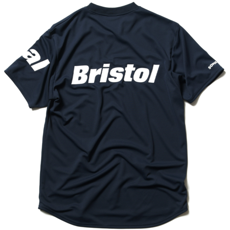 F.C. Real Bristol Straddle Logo S/S Tour Tee - NAVY