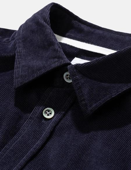 Norse Projects Osvald Cord Shirt - Dark Navy Blue