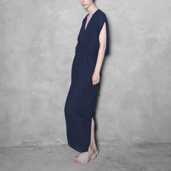 7115 by Szeki Signature Kimono Maxi Dress - Navy
