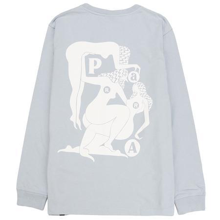 by Parra Histoire Long Sleeve T-shirt - Dusty Blue