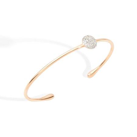 Pomellato Sabbia White Diamond Bangle
