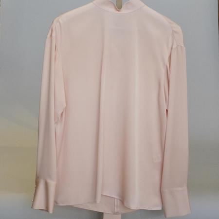 Jason Wu Ls Mock Neck Tie Blouse - BLUSH