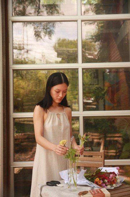 JOWA. Gathered Neck Long Dress