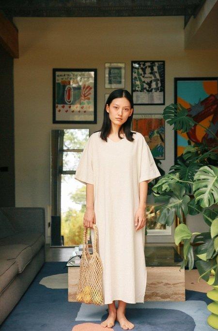 JOWA. V-neck Loose Fit Dress - Cream
