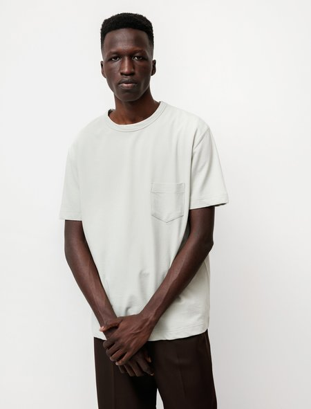 Niuhans Dry Touch Cotton Inlay S/S Pocket Tee - Moss