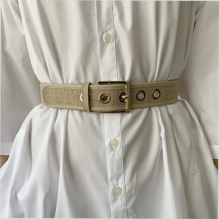 MAISON BOINET Jute Belt - Beige