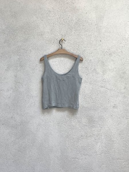 Raquel Allegra Easy Tank - Dusty Blue