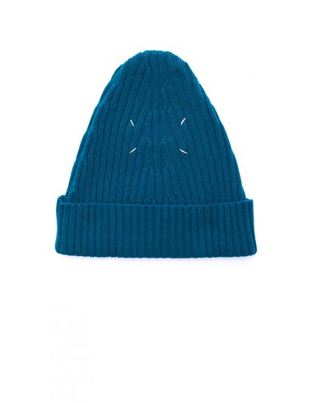 Maison Margiela Wool Beanie - Turquoise